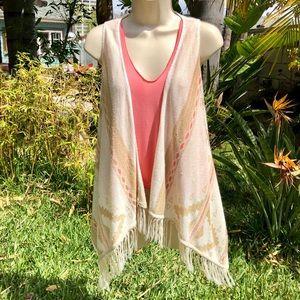Boho Pancho Style Summer Vest 🧡